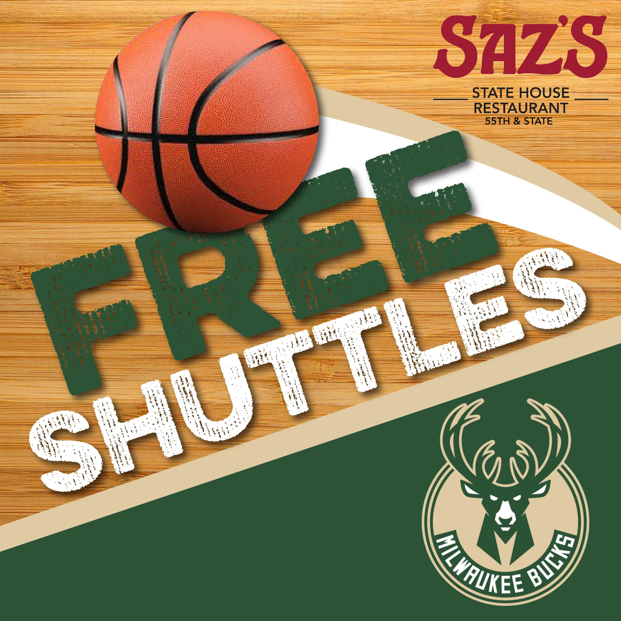 RIde Saz's Shuttle To The Bucks Game