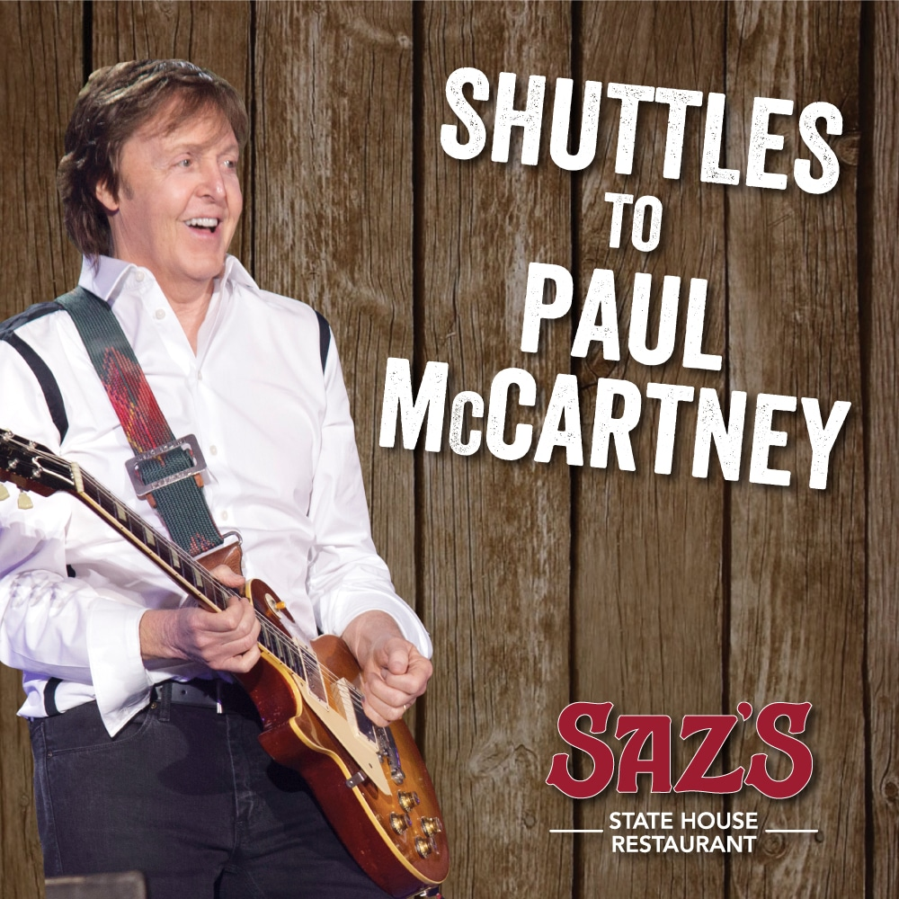 Ride Saz's Coach Shuttle To Paul McCartney At Lambeau